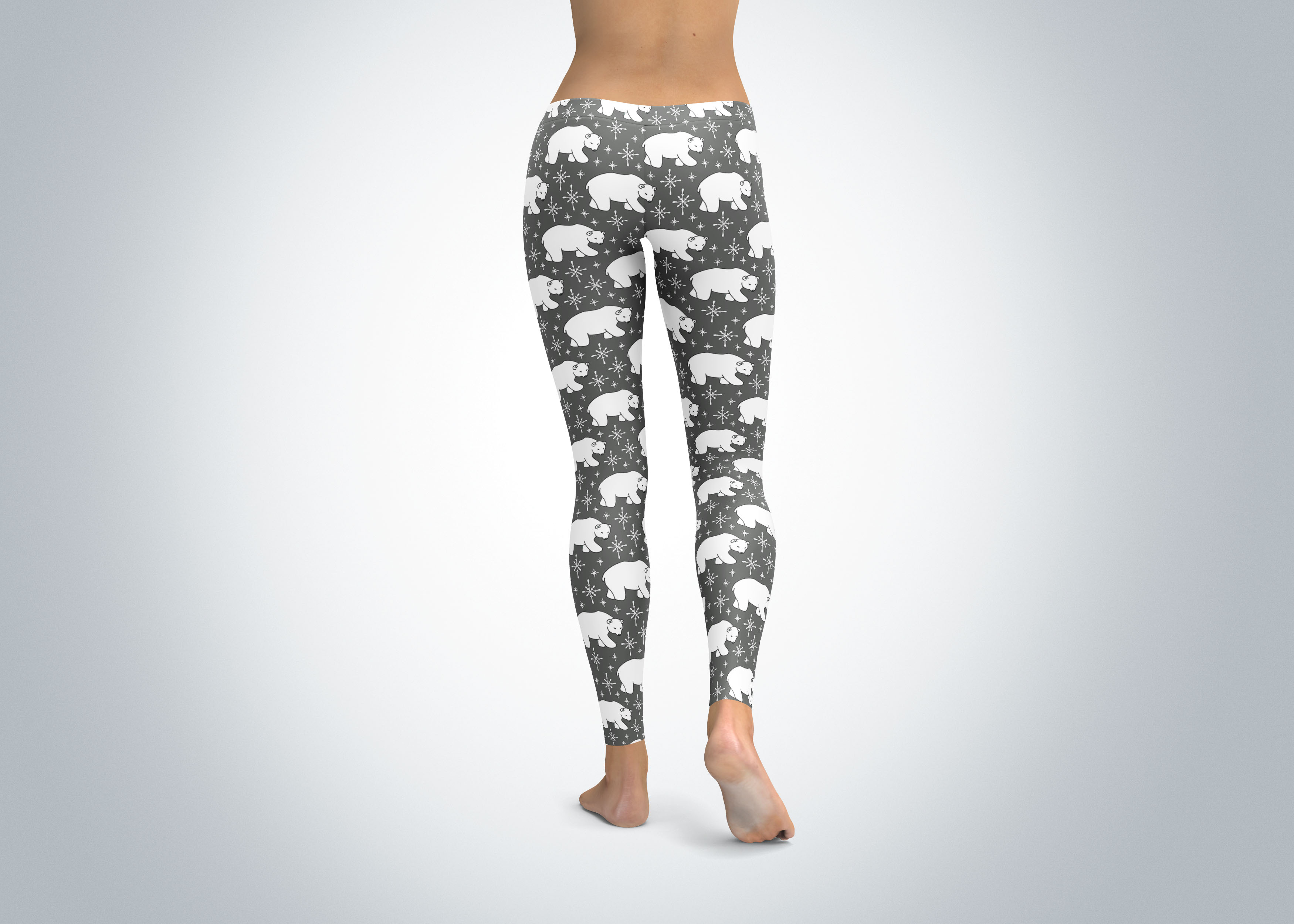 polar bear leggings grey spirit west designs. Black Bedroom Furniture Sets. Home Design Ideas